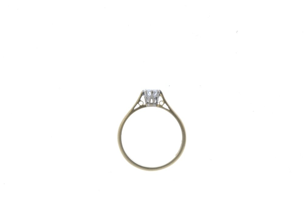 An 18ct gold diamond single-stone ring. The - 2