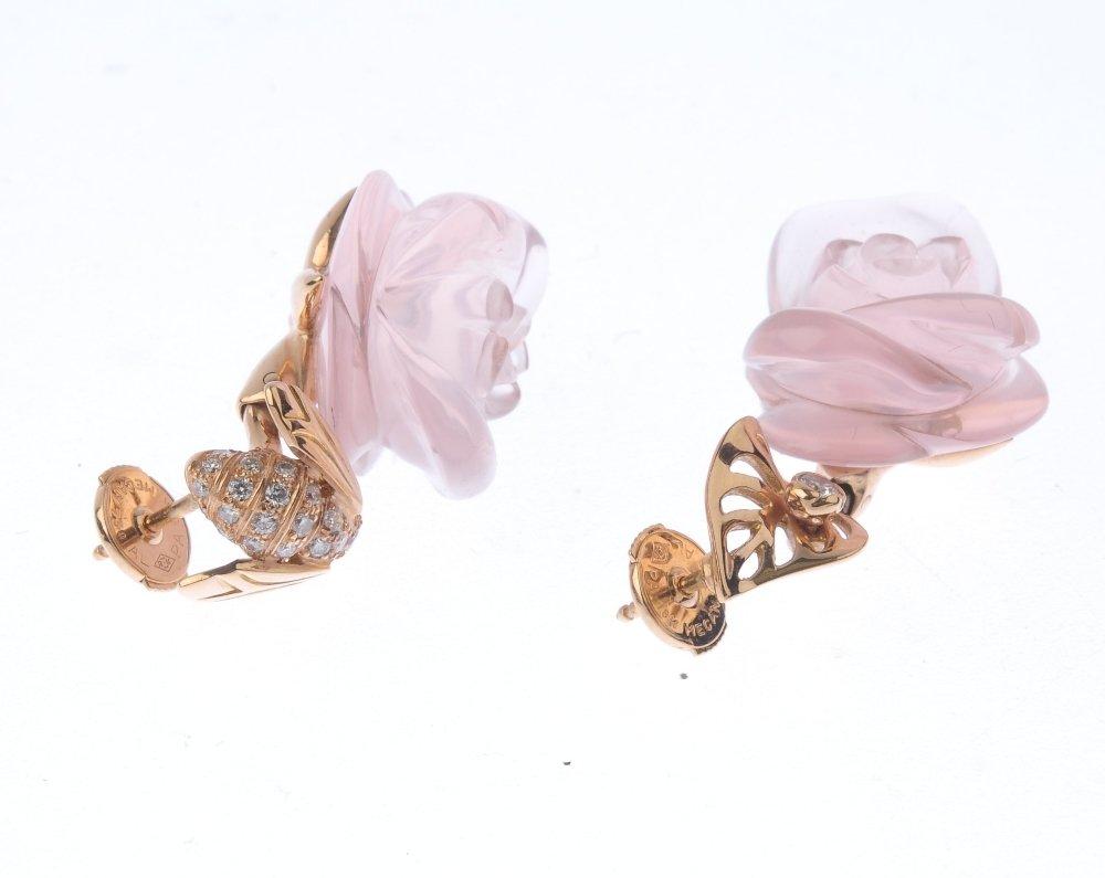 (548057-1-A) DIOR - a pair of rose quartz and diamond - 3