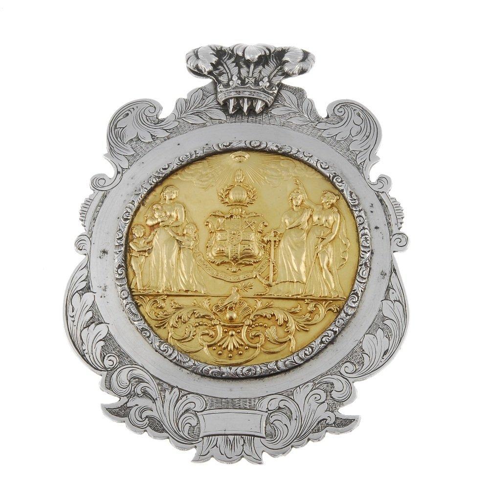 Masonic, William IV silver presentation plaque, the
