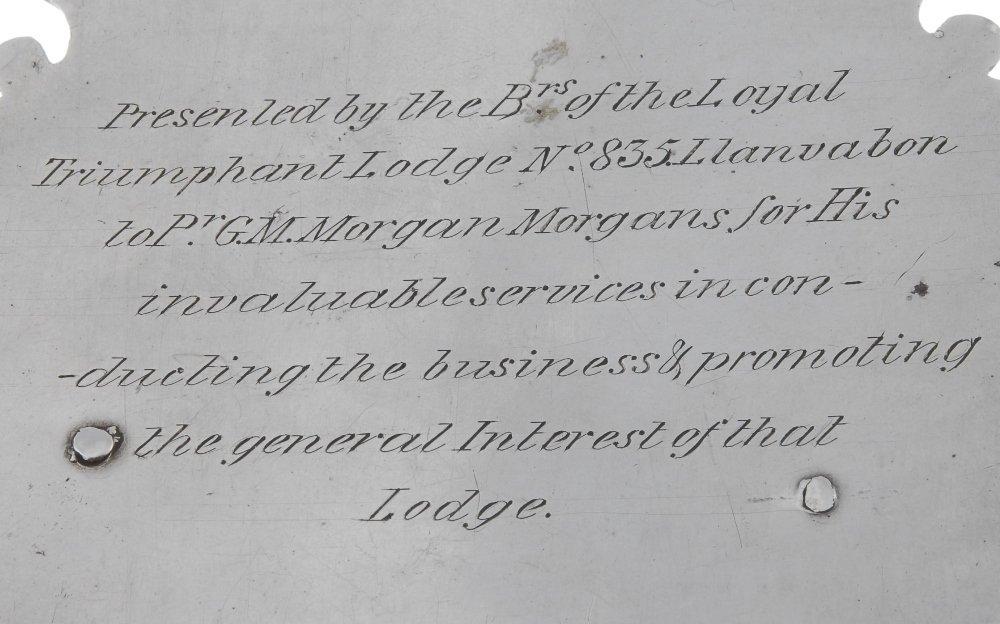Masonic, William IV silver presentation plaque, the - 3