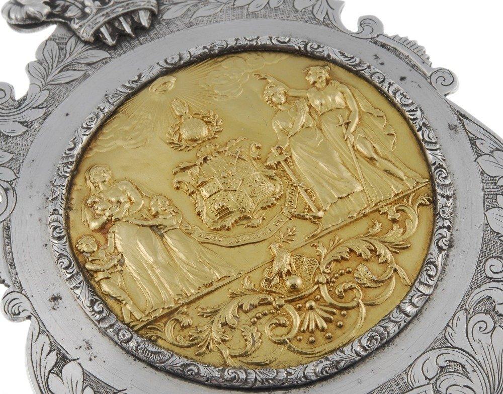 Masonic, William IV silver presentation plaque, the - 5