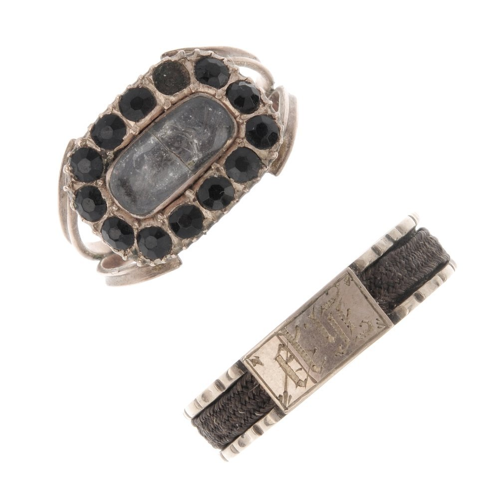 A late Georgian ring and an early Victorian ring. The
