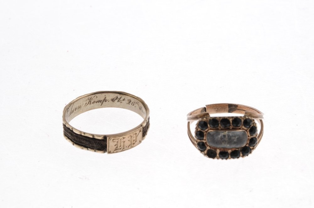 A late Georgian ring and an early Victorian ring. The - 3