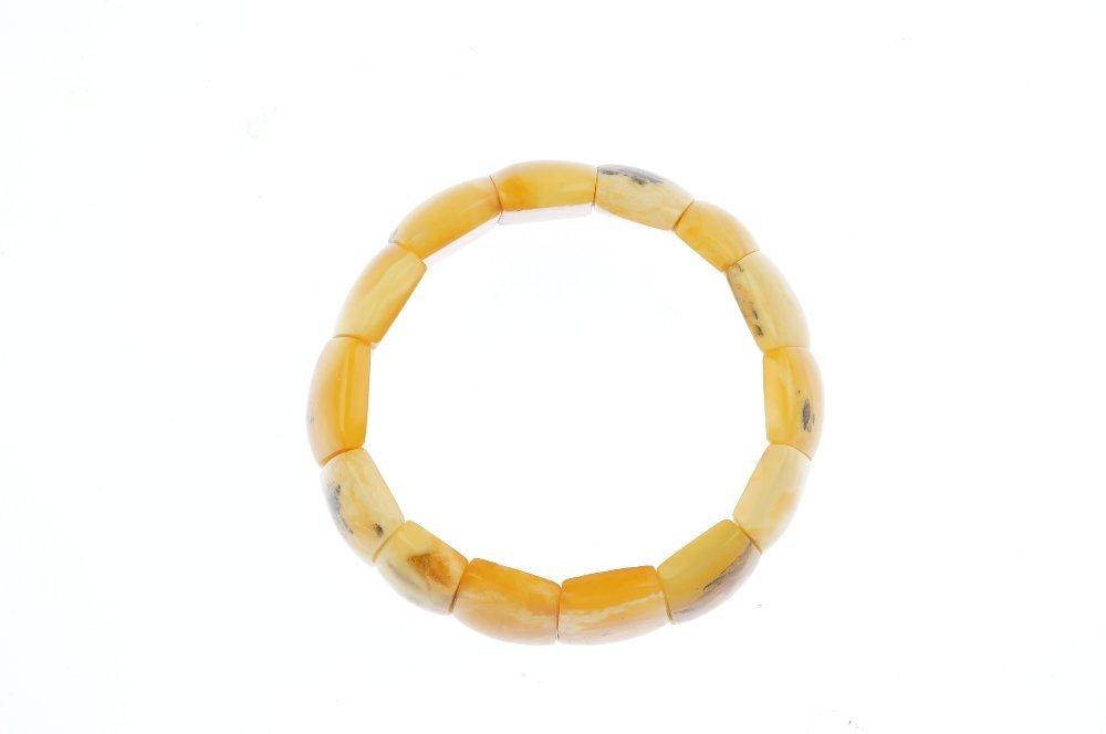 A natural amber bracelet. Designed as natural amber - 2