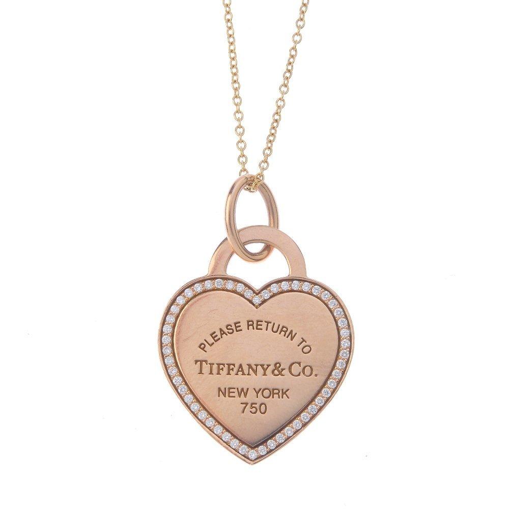TIFFANY & CO. - a 'Return to Tiffany' diamond pendant.