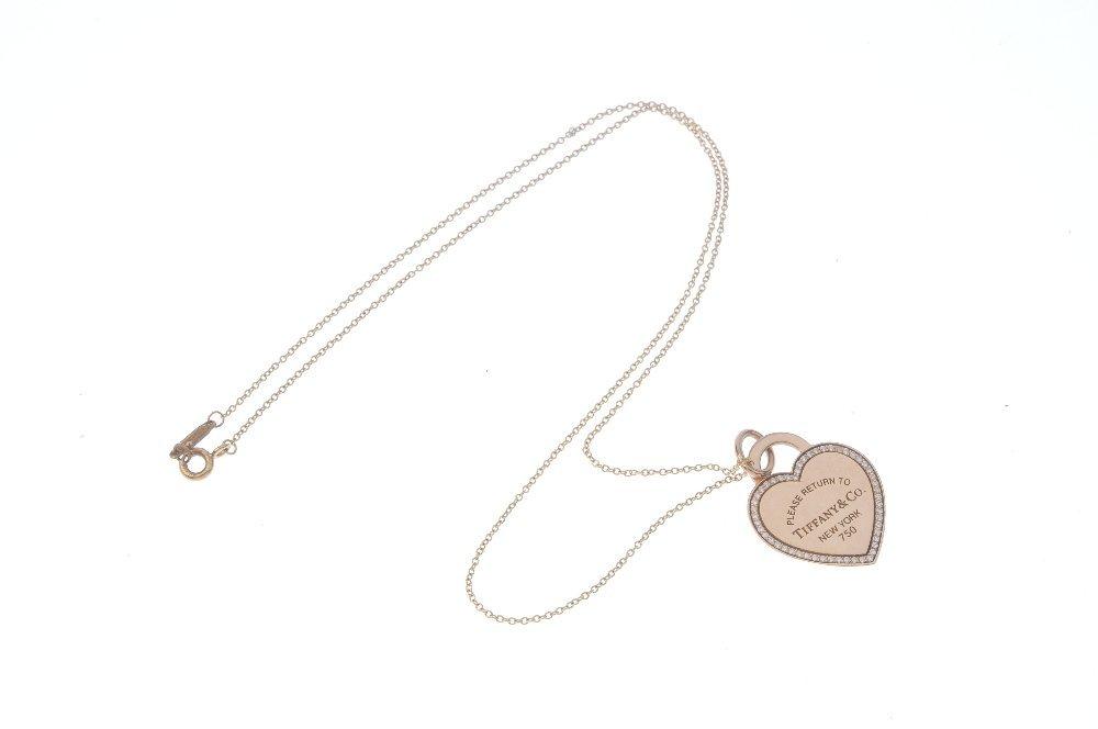 TIFFANY & CO. - a 'Return to Tiffany' diamond pendant. - 3