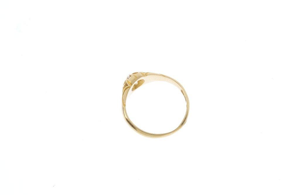 An early 20th century 18ct gold diamond single-stone - 2