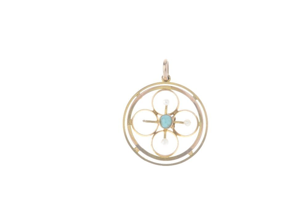 Two gem-set rings and a pendant. To include an opal and - 3