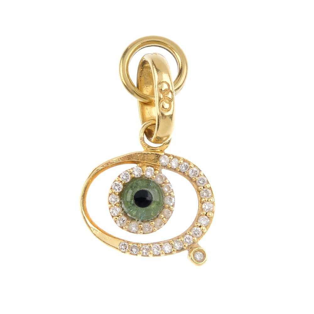 LINKS OF LONDON - an 18ct gold 'evil eye' charm. The