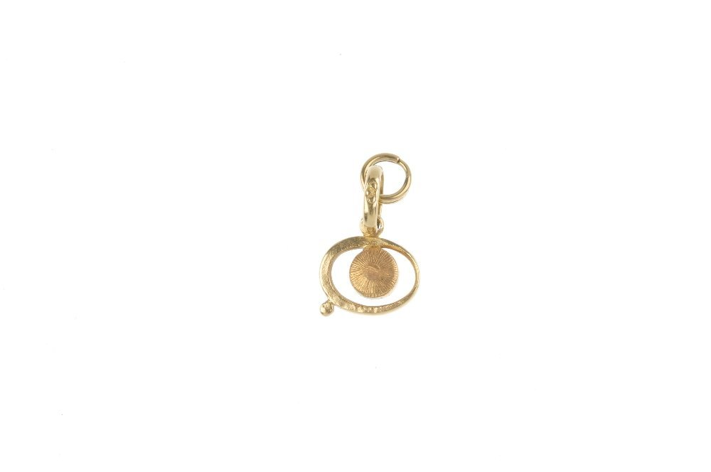 LINKS OF LONDON - an 18ct gold 'evil eye' charm. The - 2