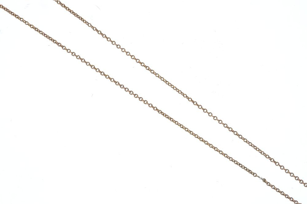 An early 20th century 9ct gold pendant, with chain. Of - 3
