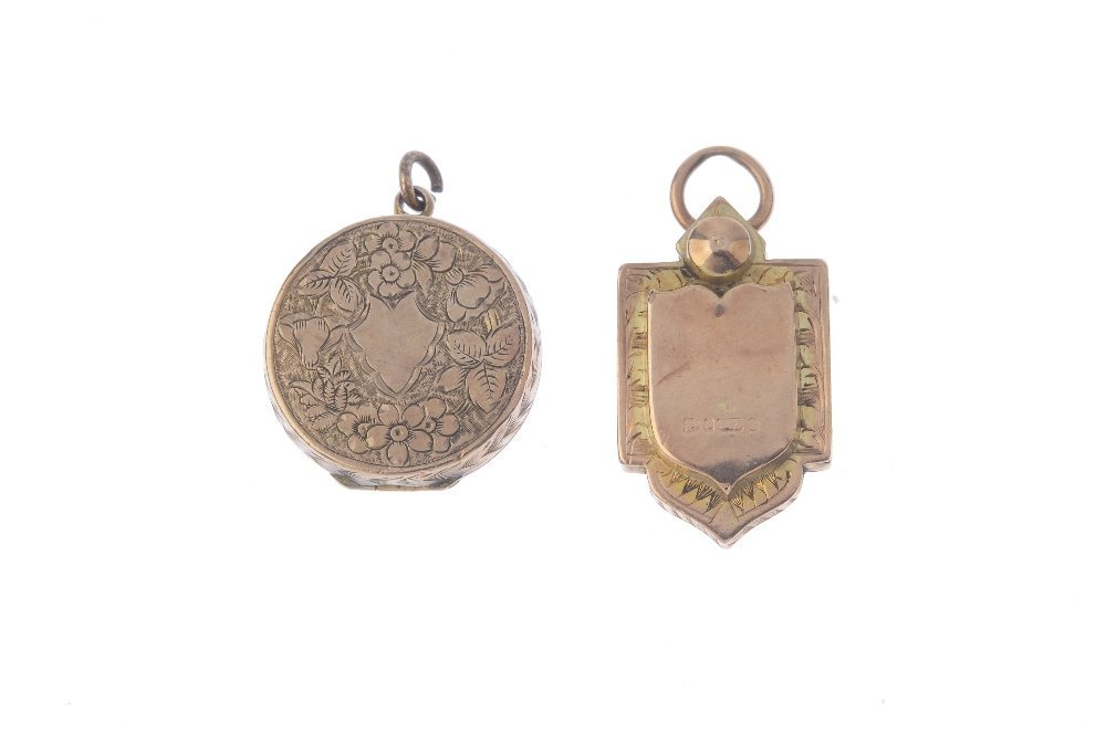 Two Victorian gold lockets. The first of circular - 2