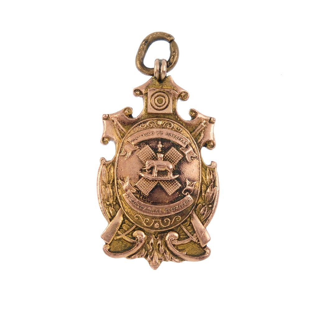 An early 20th century 9ct gold medallion. Hallmarks for