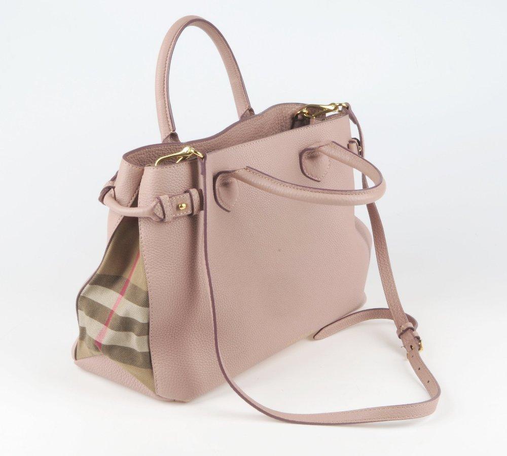 BURBERRY - a Medium Banner tote handbag. Designed with - 5