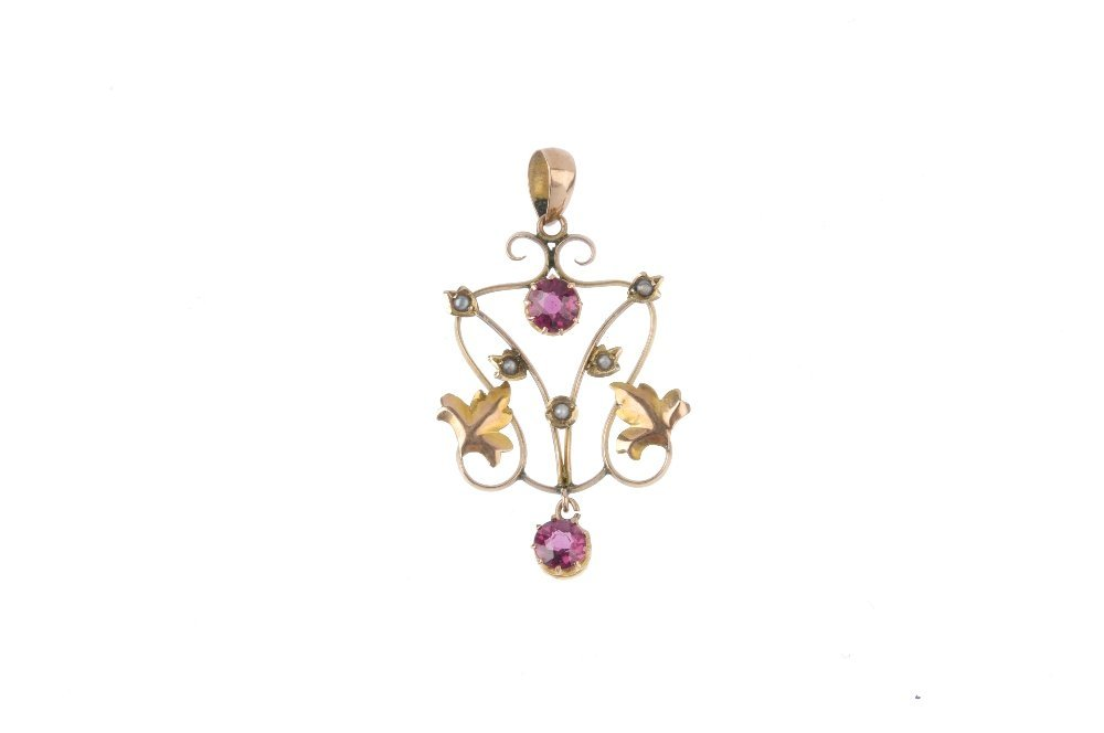 An early 20th century gem-set pendant and a 9ct gold - 4