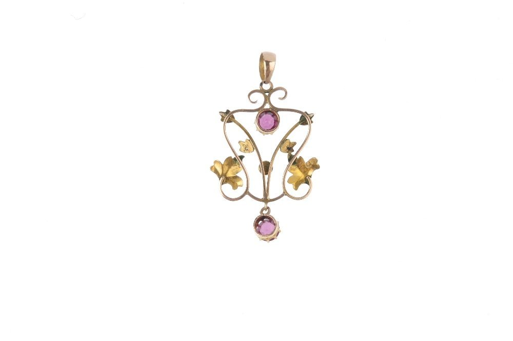 An early 20th century gem-set pendant and a 9ct gold - 5