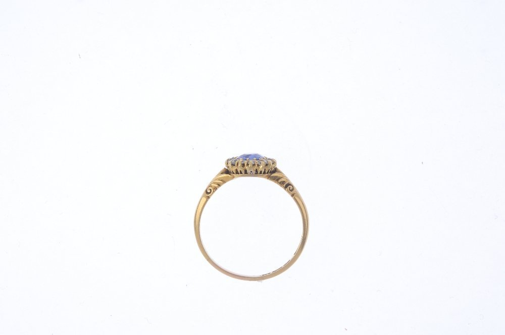 An early 20th century 18ct gold sapphire and diamond - 2