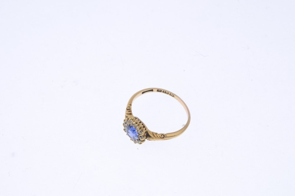 An early 20th century 18ct gold sapphire and diamond - 3