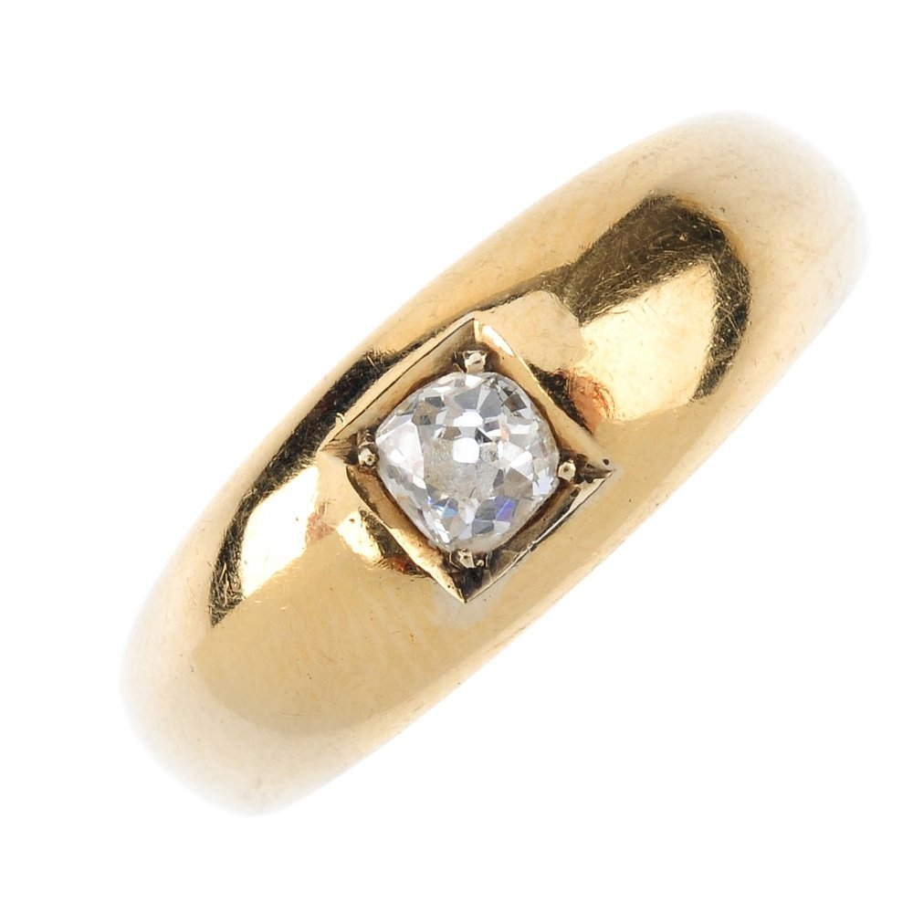 (1402) A late Victorian 18ct gold diamond single-stone
