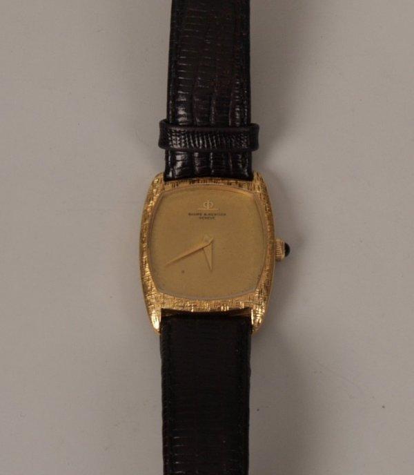 1001: BAUME & MERCIER - 18ct gold gentleman's manual wi
