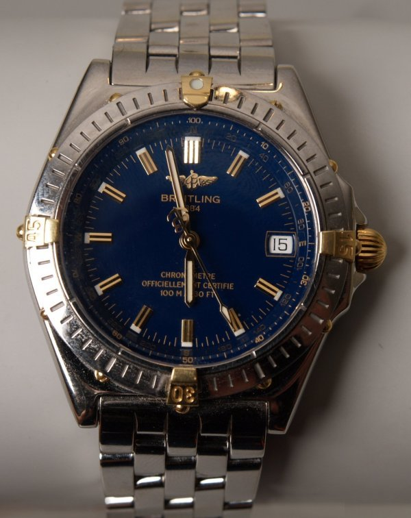 1004: BREITLING - a stainless steel Wings Automatic sel
