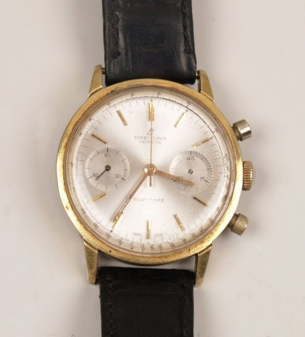 1008: BREITLING - a gentleman's automatic 1950's gold p