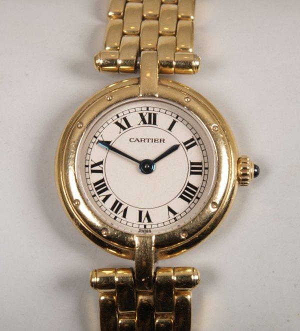 "1015: CARTIER - An 18ct yellow gold lady's quartz ""Pant"
