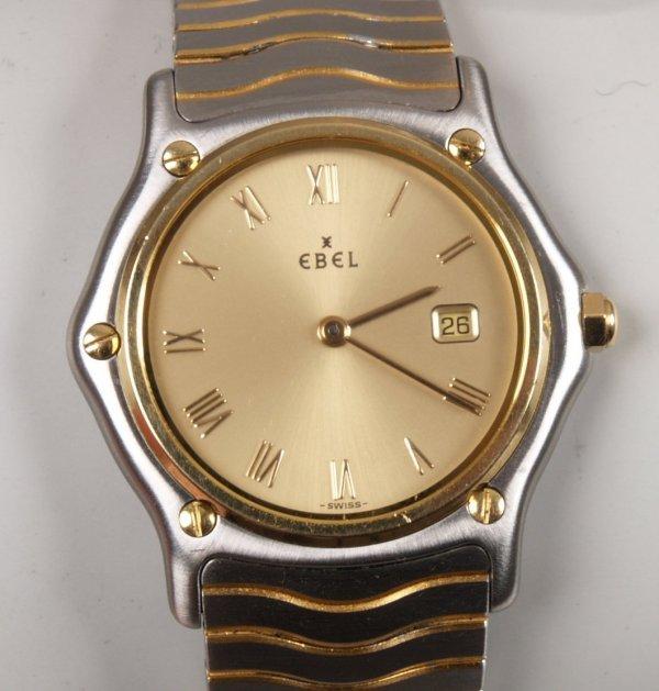 1018: EBEL - a gentleman's bi-colour stainless steel Cl