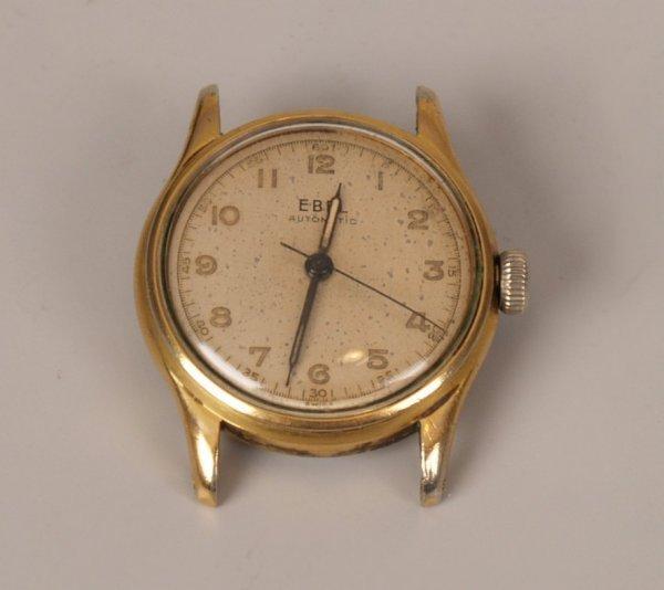 1020: EBEL - gentleman's 1950'2 gold plated watch head