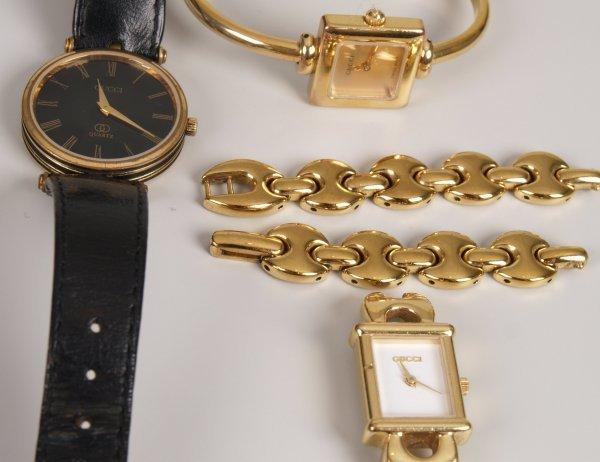 1024: GUCCI -  a gentleman's gold plated battery operat