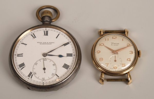 1116: TIMOR -  a gentleman's 9ct gold 1960's watch head