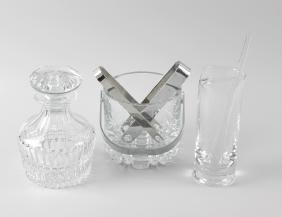 A group of Orrefors (Sweden) and other glassware.
