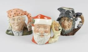 A collection of Royal Doulton character jugs