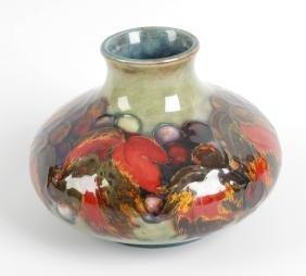A Moorcroft flambé vase, of bulbous form with short
