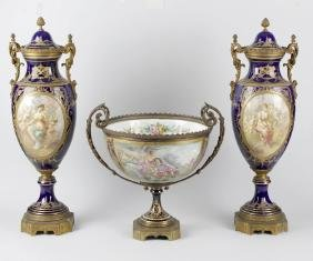 A pair of 19th century 'Chateau des Tuileries' Sevres