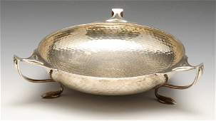 A 1930's silver bowl, the circular shallow form with