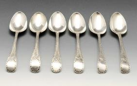 A set of six George III silver Old English pattern