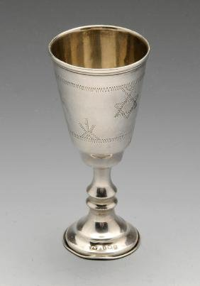 An early twentieth century silver Kiddush cup of