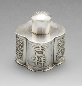 A turn of the century Chinese export silver pepper, the