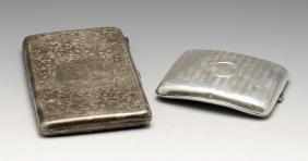 Two early twentieth century silver cigarette cases, one