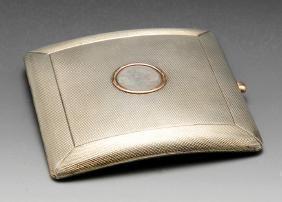 An early twentieth century silver cigarette case, the