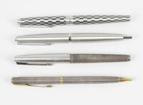 Four assorted Parker pens, to include a fountain pen,