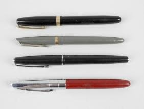 A Watermans '515' fountain pen, the black body with