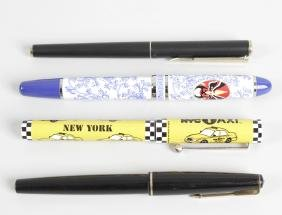 A collection of vintage style pens, to include a Parker