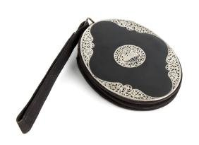 An Art Deco lady's evening bag, of oval shaped form,