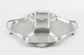 An Orivit Art Nouveau silver plated serving tray, of