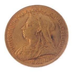 Victoria, Sovereign 1896. Very fine.