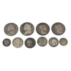 William and Mary to William IV, silver coins,