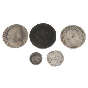 William III, Halfcrown 1697, fair, sixpence 1696, fair,