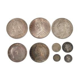 Victoria to George V, sterling silver coinage,